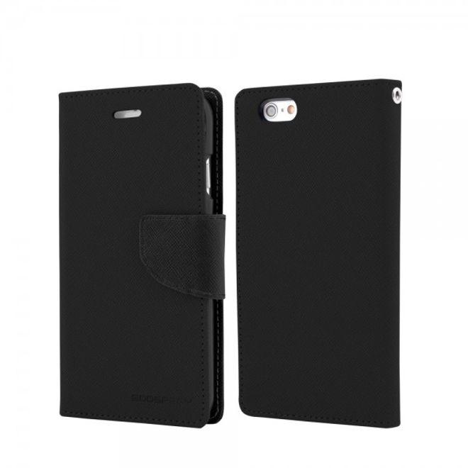 Goospery Goospery - Samsung Galaxy Note 1 Hülle - Handy Bookcover - Fancy Diary Series - schwarz