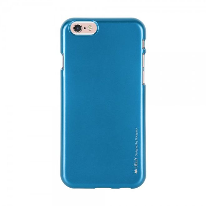 Goospery Mercury Goospery - Handy Schutzhülle für Samsung Galaxy S6 Edge - Cover aus elastischem Gummi - i Jelly Series - blau