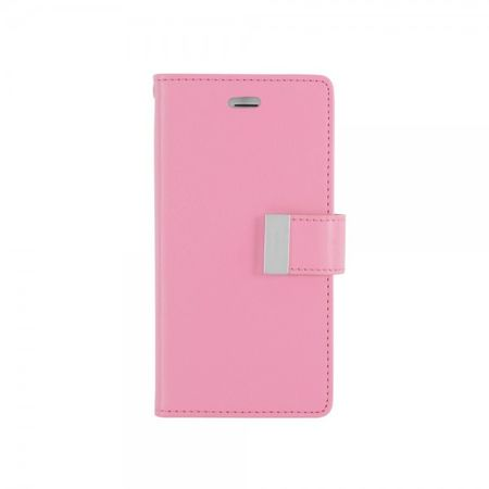 Mercury Goospery - Cover für Samsung Galaxy Note Edge - Handyhülle aus Leder - Rich Diary Series - rosa/pink