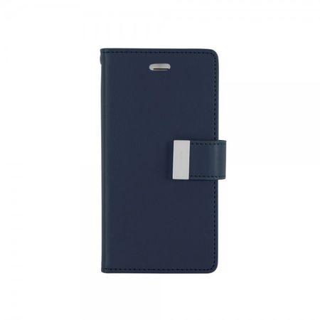 Goospery - Cover für Samsung Galaxy Note Edge - Handyhülle aus Leder - Rich Diary Series - navy/lime