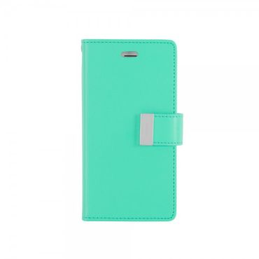 Mercury Goospery - Cover für Samsung Galaxy Note Edge - Handyhülle aus Leder - Rich Diary Series - mint/navy
