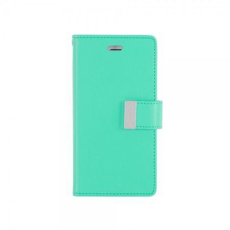 Goospery - Cover für Samsung Galaxy Note Edge - Handyhülle aus Leder - Rich Diary Series - mint/navy