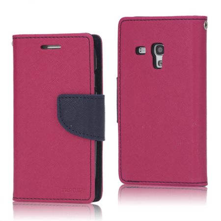 Mercury Goospery - Handy Cover für Samsung Galaxy S3 Mini - Handyhülle aus Leder - Fancy Diary Series - rosa/navy