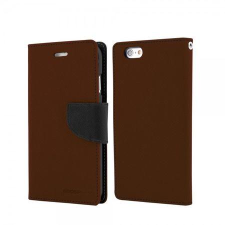 Mercury Goospery - Samsung Galaxy Note 3 Lite/Neo Hülle - Handy Bookcover - Fancy Diary Series - braun/schwarz
