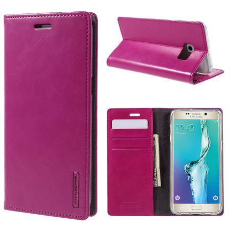 Mercury Goospery - Handyhülle für Samsung Galaxy S6 Edge Plus - Case aus Leder - Blue Moon Series - rosa