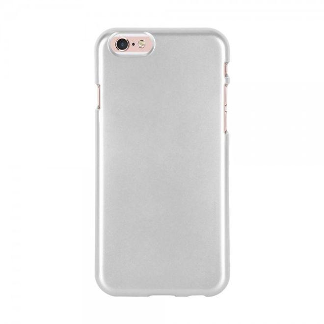 Goospery Mercury Goospery - Handy Schutzhülle für iPhone 6/6S - Cover aus elastischem Gummi - i Jelly Series - silber