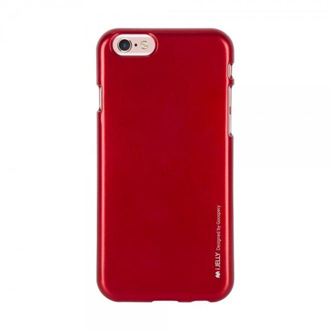 Goospery Mercury Goospery - Handy Schutzhülle für iPhone 8 Plus / 7 Plus - Cover aus elastischem Gummi - i Jelly Series - rot