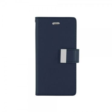 Mercury Goospery - Cover für Samsung Galaxy S6 Edge Plus - Handyhülle aus Leder - Rich Diary Series - navy/lime
