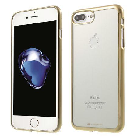 Mercury Goospery - Gummi Cover für iPhone 8 Plus / 7 Plus - Handyhülle aus Gummi - Ring 2 Series - gold