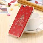Handyhülle für iPhone 6/6S - Case aus Plastik - leuchtet im Dunkeln - Weihnachtsbaum - rot