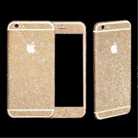iPhone 6 Plus/6S Plus 3D Skin Full Body Sticker Aufkleber - glitzernd - champagnerfarben