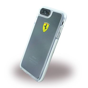 Ferrari - iPhone 8 Plus / 7 Plus Hülle - Handycase aus Plastik - Racing Shockproof - FEGLHCP7LTR - transparent