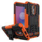 Lenovo K6 Case - Handyhülle aus elastischem und hartem Plastik - ultrarobust - mit Kickstand - orange