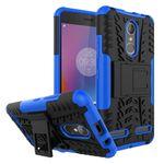 Lenovo K6 Case - Handyhülle aus elastischem und hartem Plastik - ultrarobust - mit Kickstand - blau