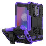 Lenovo K6 Case - Handyhülle aus elastischem und hartem Plastik - ultrarobust - mit Kickstand - purpur