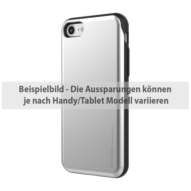 Goospery Goospery - Samsung Galaxy Note 4 Handyhülle - Case aus Plastik - Sky Slide Bumper - silber/schwarz