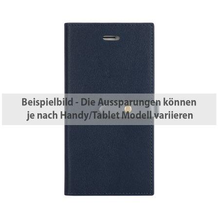 Mercury Goospery - Hülle für iPhone 5/5S/SE - Case aus Kunstleder - Romance Diary Series - navy/grau