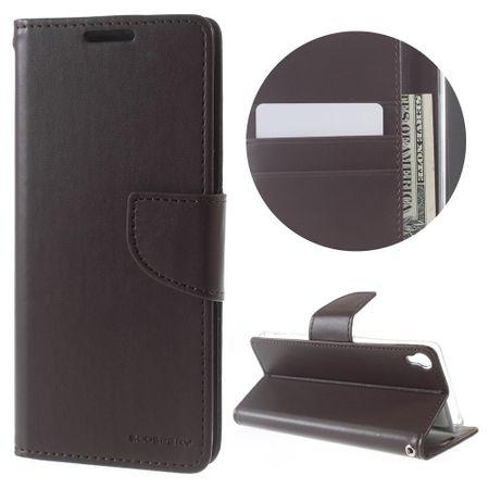 Goospery - Handyhülle für Sony Xperia XA - Case aus Leder - Bravo Diary Series - braun