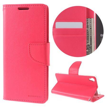 Goospery - Handyhülle für Sony Xperia XA - Case aus Leder - Bravo Diary Series - rosa
