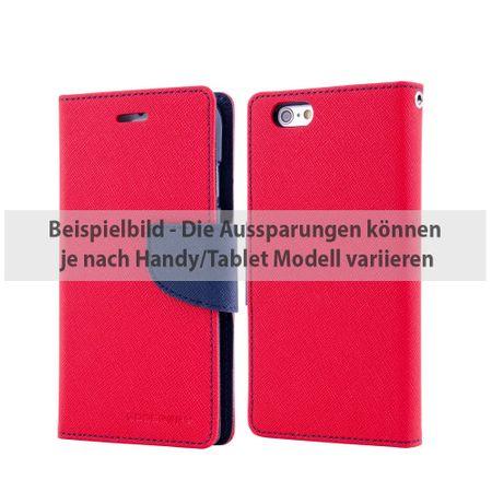 Mercury Goospery - Cover für Sony Xperia Z5 Premium - Hülle aus Leder - Fancy Diary Series - rot/navy