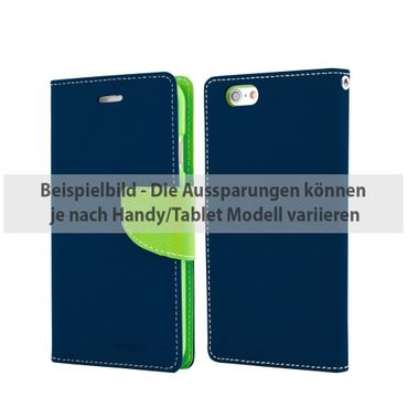 Mercury Goospery - Cover für Sony Xperia Z5 Compact - Hülle aus Leder - Fancy Diary Series - navy/lime