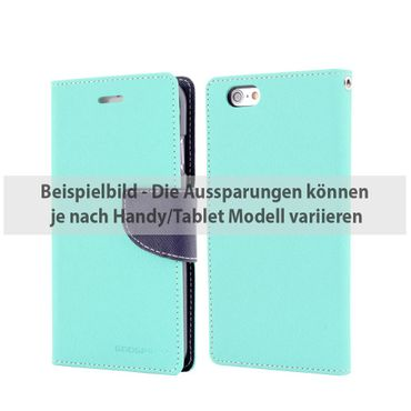 Mercury Goospery - Cover für Sony Xperia Z5 Compact - Hülle aus Leder - Fancy Diary Series - mint/navy
