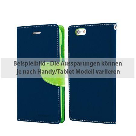 Mercury Goospery - Cover für Samsung Galaxy Tab S2 8.0 - Hülle aus Leder - Fancy Diary Series - navy/lime