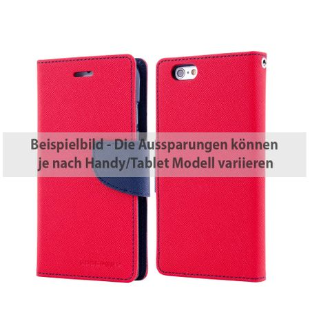 Goospery - iPad Air 2 Hülle - Tablet Bookcover - Fancy Diary Series - rot/navy