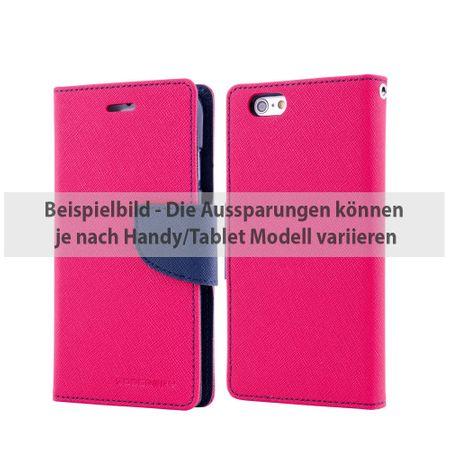 Mercury Goospery - Cover für iPad Air 2 - Hülle aus Leder - Fancy Diary Series - rosa/navy