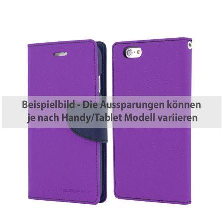 Mercury Goospery - Cover für iPad Air 2 - Hülle aus Leder - Fancy Diary Series - purpur/navy