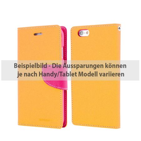 Goospery - iPad 2/3/4 Hülle - Tablet Bookcover - Fancy Diary Series - gelb/pink
