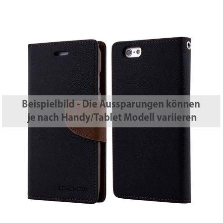 Mercury Goospery - Cover für Samsung Galaxy Tab S2 9.7 - Hülle aus Leder - Fancy Diary Series - schwarz/braun