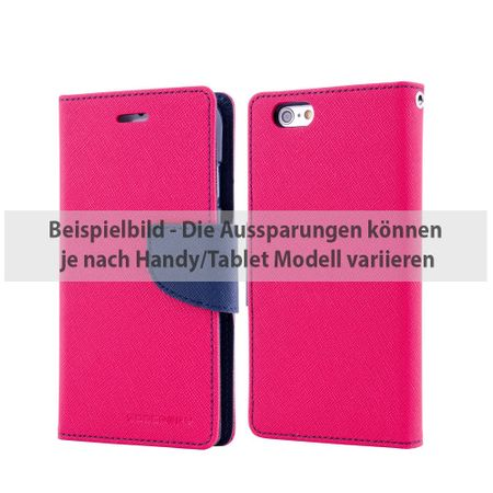 Goospery - Samsung Galaxy Tab A 9.7 Hülle - Tablet Bookcover - Fancy Diary Series - pink/navy