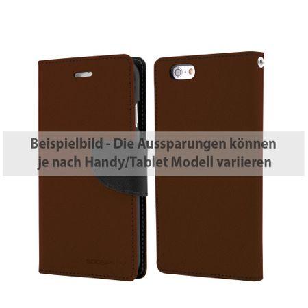 Goospery - Samsung Galaxy Tab A 9.7 Hülle - Tablet Bookcover - Fancy Diary Series - braun/schwarz