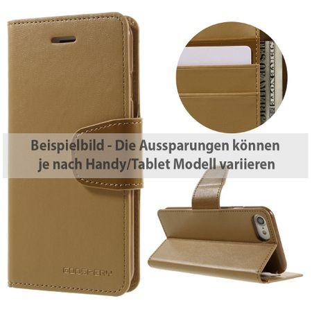 Mercury Goospery - Sony Xperia Z3 Handyhülle - Case aus Leder - Sonata Diary Series - camel