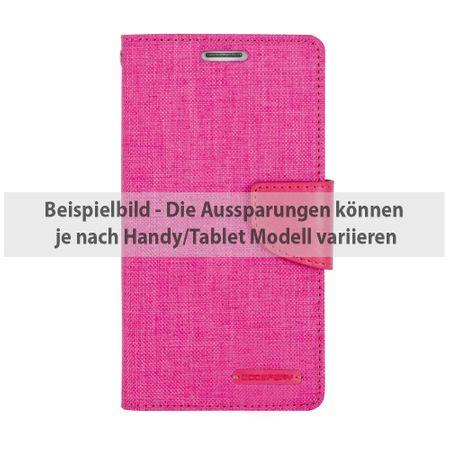 Mercury Goospery - Flipcase Hülle für Huawei P9 Lite - Hülle aus Leder/Stoff- Canvas Diary Series - pink/pink