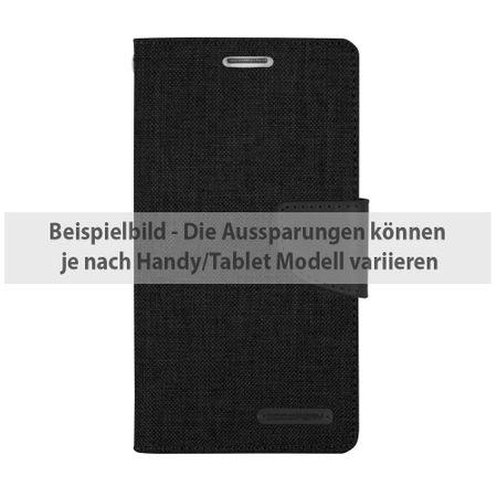 Mercury Goospery - Flipcase Hülle für iPad Mini 1/2/3 - Hülle aus Leder/Stoff- Canvas Diary Series - schwarz/schwarz