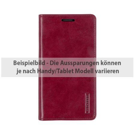 Goospery - Handyhülle für Sony Xperia XA - Case aus Leder - Blue Moon Series - weinrot