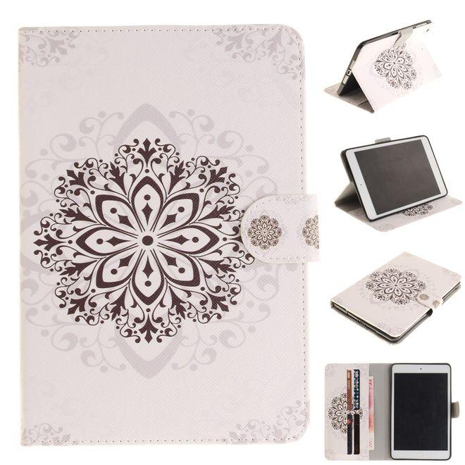 MU Style Hülle für iPad Air 2 - Cover aus Leder - mit Standfunktion - Mandala