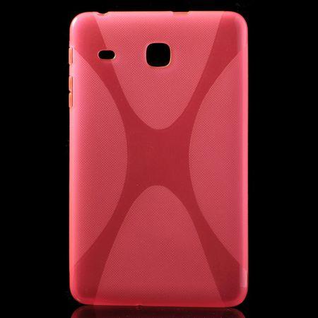 Samsung Galaxy Tab E 8.0 Cover - TPU Softcase - X-Shape - rosa