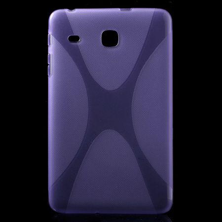 Samsung Galaxy Tab E 8.0 Cover - TPU Softcase - X-Shape - purpur