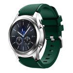 Samsung Gear S3 Frontier/S3 Classic Armband - aus Silikon - mit Streifenmuster - grün