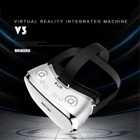 Motion V3 VR Virtual Reality 3D Brille - mit IPS 5.5 Zoll Bildschirm - 1920x1080 Auflösung - inklusive Gamepad - weiss