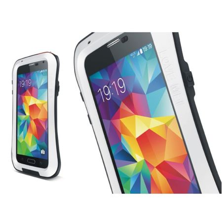 Love Mei - Samsung Galaxy S5 - Ultrarobuste Metall Hülle - Powerful Small Series - weiss