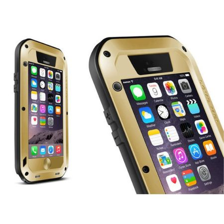 Love Mei - iPhone 6/6S - Ultrarobuste Metall Hülle - Powerful Series - gold
