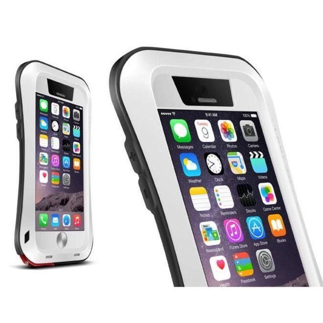 Love Mei Love Mei - iPhone 6/6S - Ultrarobuste Metall Hülle - Powerful Small Series - weiss