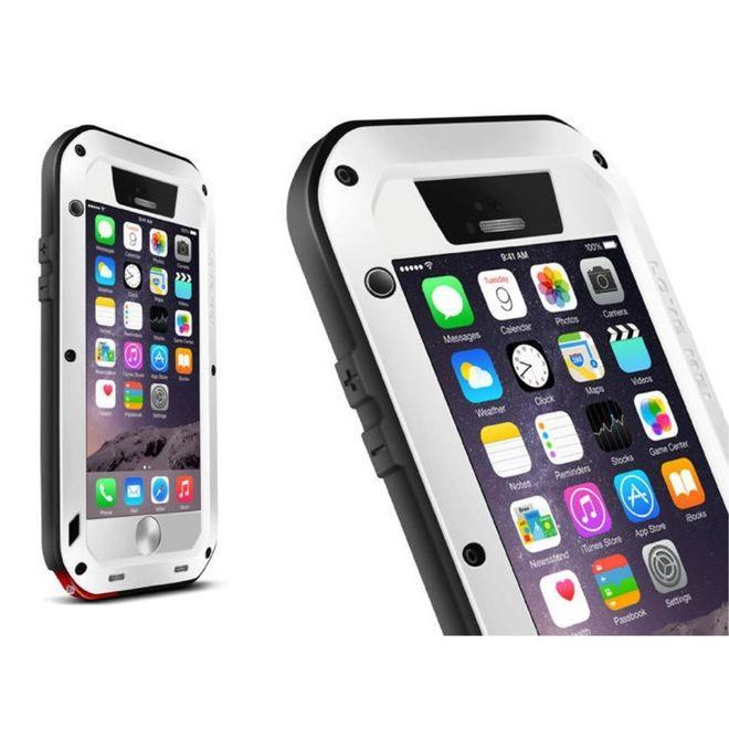 Love Mei Love Mei - iPhone 6/6S - Ultrarobuste Metall Hülle - Powerful Series - weiss