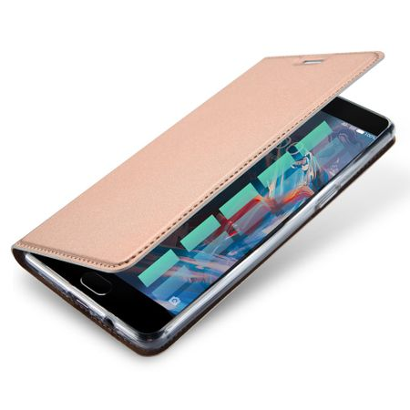 Dux Ducis - OnePlus 3/3T Hülle - Handy Bookcover - Skin Pro Series - rosegold