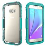 Samsung Galaxy S7 Edge Case - Hülle aus Plastik - bis 24 Stunden und bis max. 10m wasserdicht - cyan