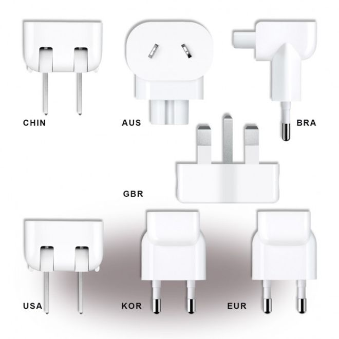 Apple Apple - Welt Reise Adapter Set - MD837ZM/A - weiss